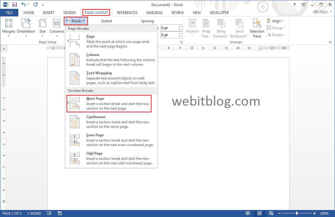 open office how to insert page numbers